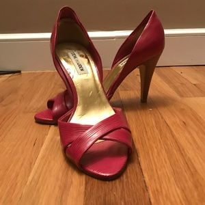 Steve Madden 8.5 Pink Peep Toe Heels